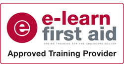 E Learn First Aid Approved Training Provider Logo